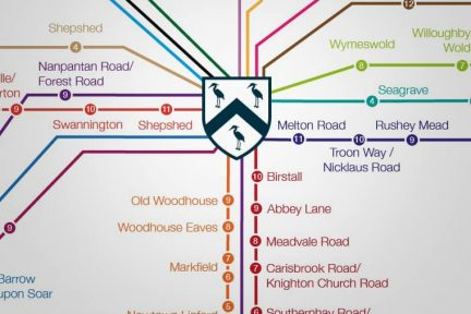 image of the bus routes to Loughborough Schools Foundation