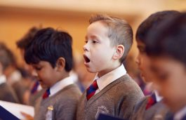 Fairfield children singing their hymn during assembly