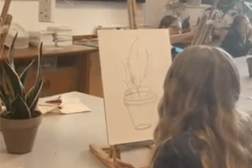 Year 9 enjoying their Art lesson featured image