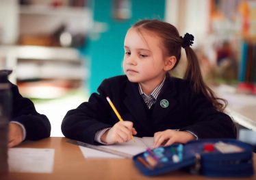 amherst pupil working in classroom